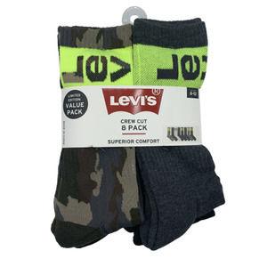 Levi's 8 Pack Superior Comfort Crew Cut Socks
